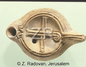 1385-6 Christian oil lamp