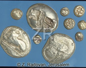 1528-3 Early Greek coins