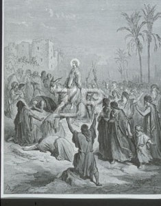 2764 Jesus entering Jerusal