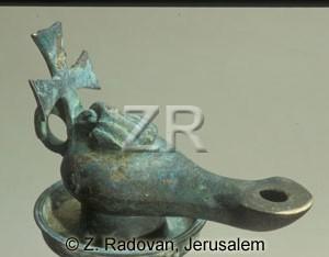 3449-2 Byzantine oil lamp