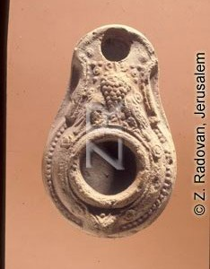 4351-12 Herodian oil lamp