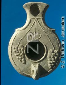 4351-2 Herodian oil lamp