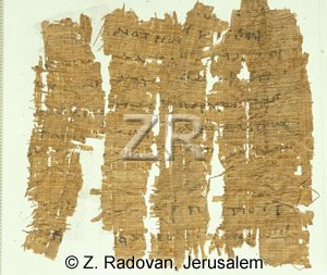 4692-1 Papyrus inscription