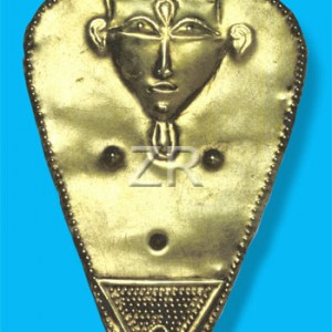 841-1 Hathor golden pendan