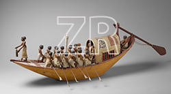 6227. Model of Nile rowing boat