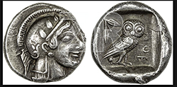 6320. Greek Drachma coin from Athens