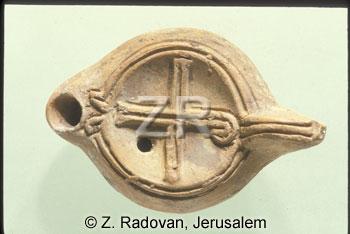 1385-6 Christian oil lamp