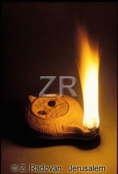 3329 Jewish Roman oil lamp