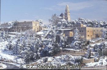 591-3 Jerusalem in snow